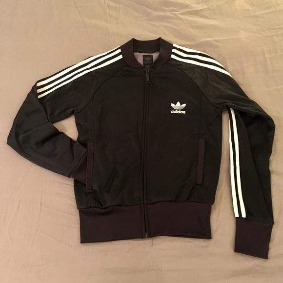 Adidas giacche & cappotti nero classico bianco stipe traccia giacca s